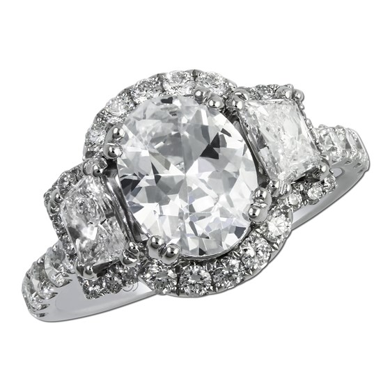 Why Settle For One Diamond When You Could Have Three Or Let S Get Really Crazy And Choose A Cer Of Diamonds As Shown Beautifully By This Engagement