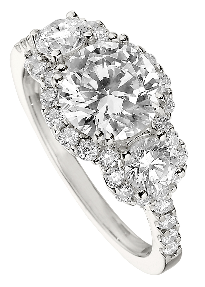 The Jewelry Box Trend Watch 2011 Diamond Halo Engagement Rings